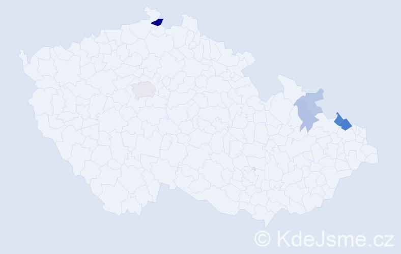Příjmení: 'Golla', počet výskytů 15 v celé ČR