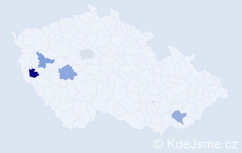 Příjmení: 'Iljin', počet výskytů 6 v celé ČR