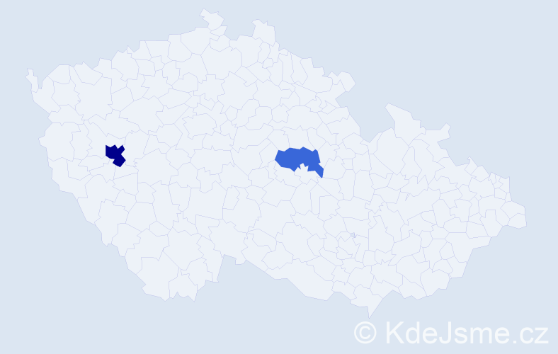 Příjmení: 'Iljaš', počet výskytů 4 v celé ČR