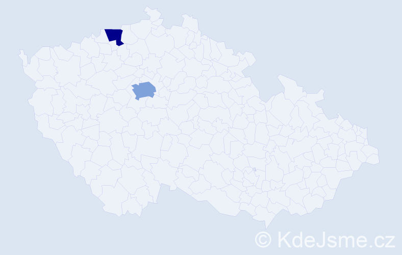 Příjmení: 'Elledrová', počet výskytů 3 v celé ČR
