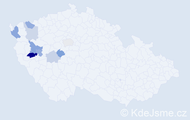 Příjmení: 'Fantišová', počet výskytů 18 v celé ČR