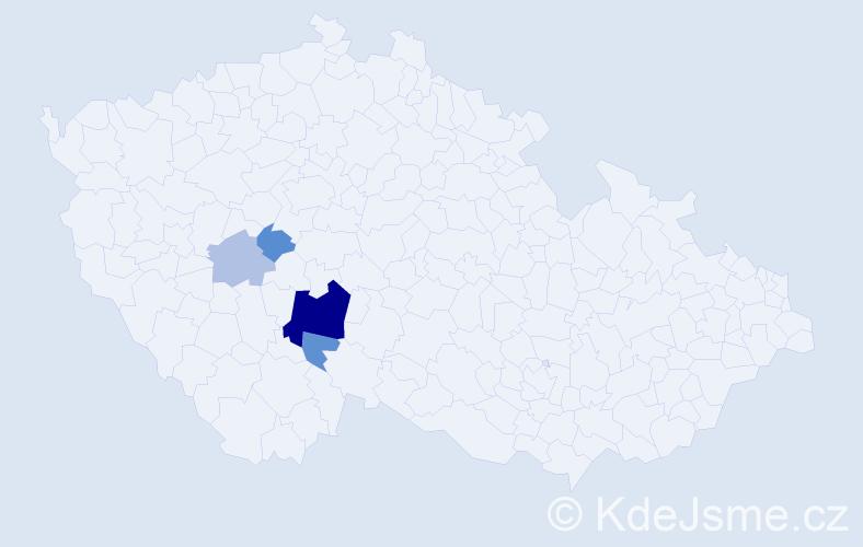 Příjmení: 'Čikešová', počet výskytů 11 v celé ČR