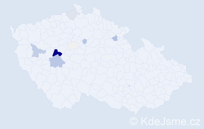 Příjmení: 'Fajrajzlová', počet výskytů 20 v celé ČR