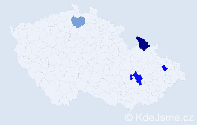 Příjmení: 'Leitmanová', počet výskytů 7 v celé ČR