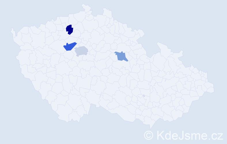 Příjmení: 'Denkrová', počet výskytů 6 v celé ČR