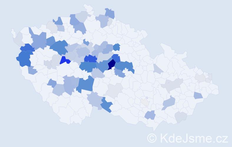 Příjmení: 'Deverová', počet výskytů 225 v celé ČR