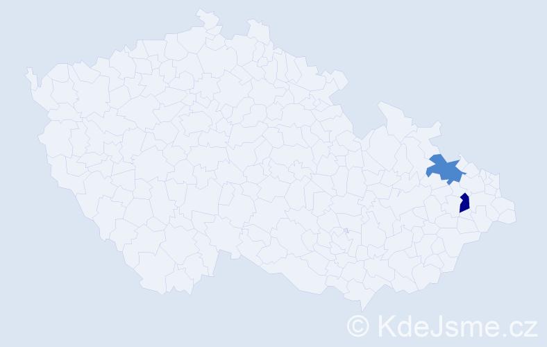 Příjmení: 'Ďőrďová', počet výskytů 2 v celé ČR