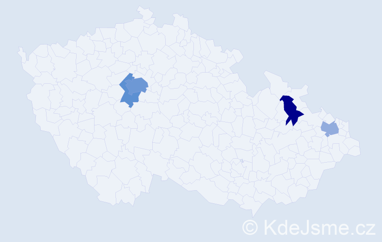 Příjmení: 'Árvai', počet výskytů 9 v celé ČR