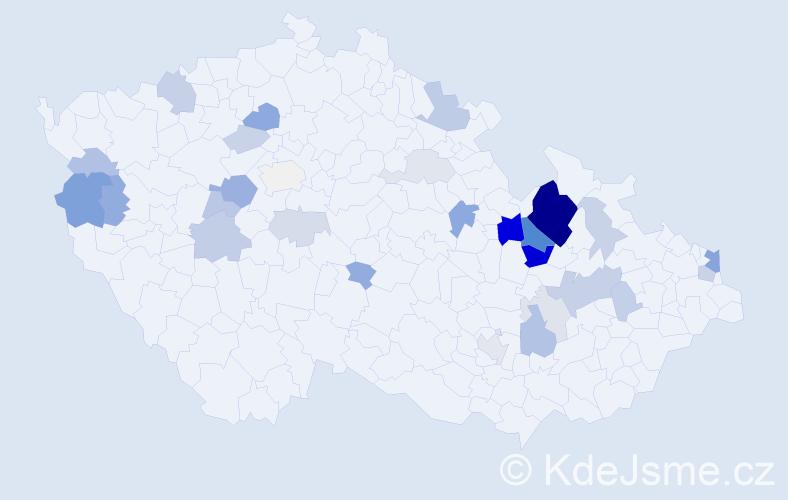 Příjmení: 'Ficnarová', počet výskytů 78 v celé ČR