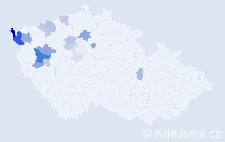 Příjmení: 'Karnolt', počet výskytů 40 v celé ČR