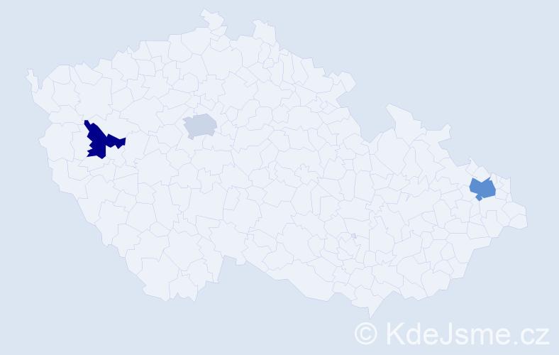 Příjmení: 'Čoban', počet výskytů 11 v celé ČR