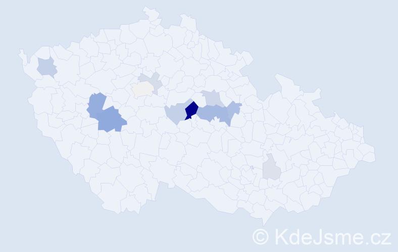Příjmení: 'Jozefy', počet výskytů 40 v celé ČR