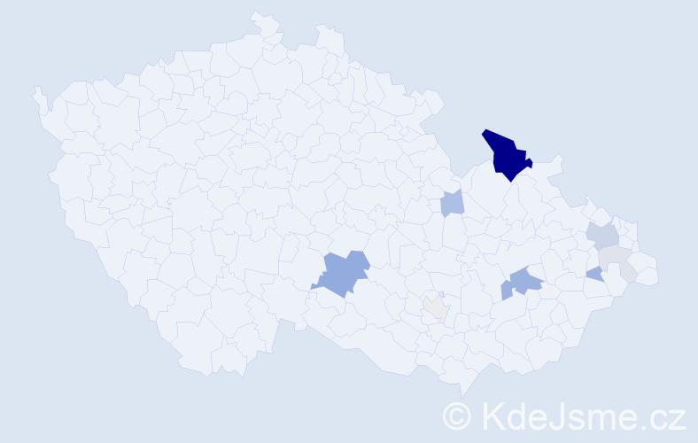 Příjmení: 'Hadwiger', počet výskytů 31 v celé ČR