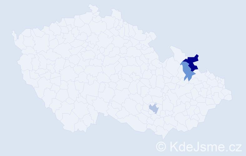 Příjmení: 'Čepara', počet výskytů 6 v celé ČR
