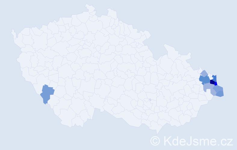 Příjmení: 'Ciompová', počet výskytů 38 v celé ČR