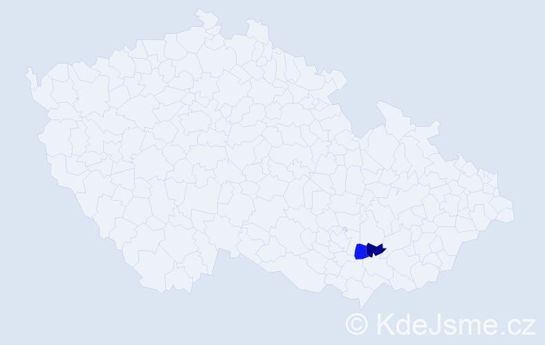 Příjmení: 'Alznauerová', počet výskytů 2 v celé ČR