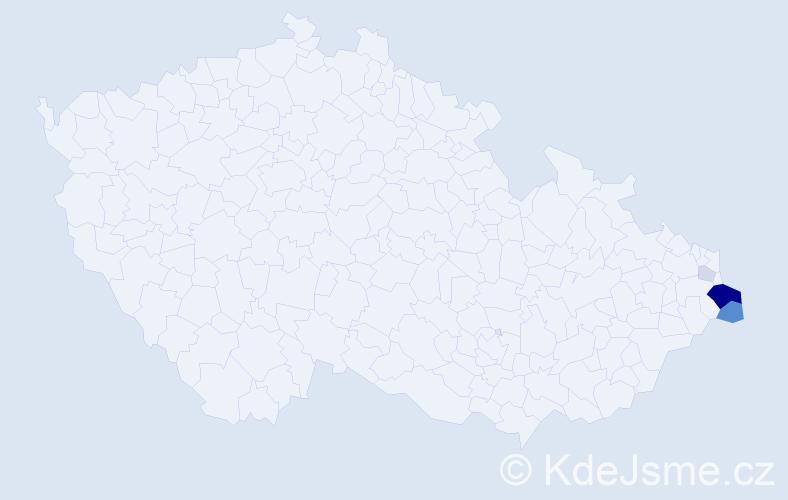 Příjmení: 'Karczmarczyková', počet výskytů 14 v celé ČR