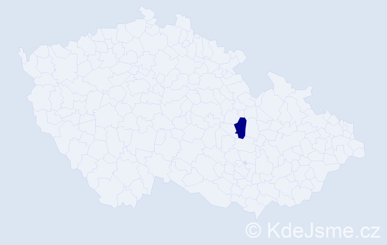 Příjmení: 'Helemík', počet výskytů 1 v celé ČR