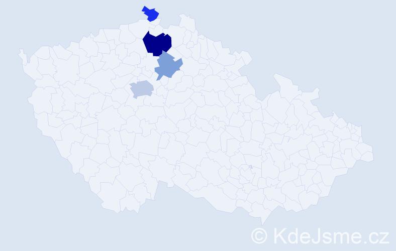 Příjmení: 'Breinl', počet výskytů 8 v celé ČR