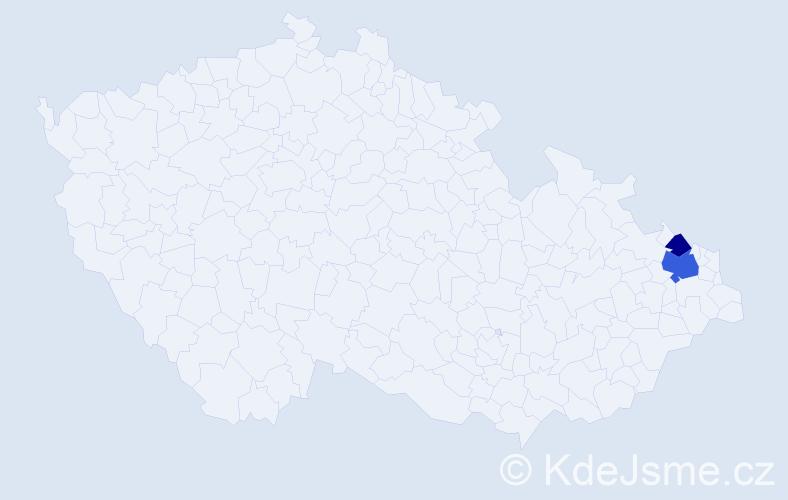 Příjmení: 'Bardaševská', počet výskytů 8 v celé ČR