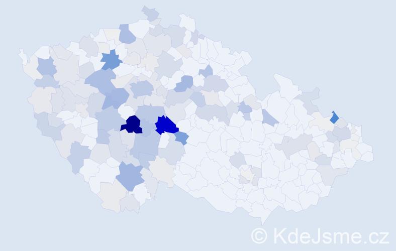 Příjmení: 'Jankovský', počet výskytů 504 v celé ČR