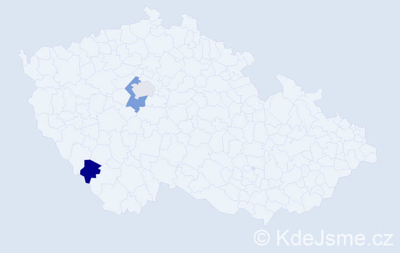 Příjmení: 'Frydlewicz', počet výskytů 7 v celé ČR