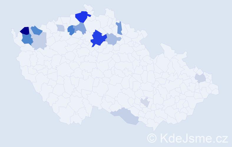 Příjmení: 'Gazsiová', počet výskytů 37 v celé ČR