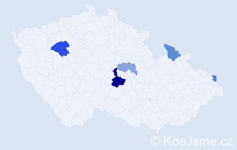 Příjmení: 'Fedaš', počet výskytů 9 v celé ČR