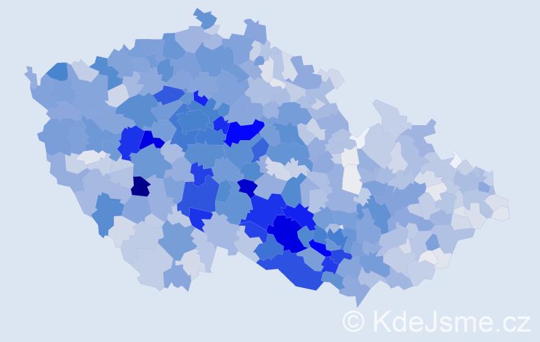 Příjmení: 'Kratochvíl', počet výskytů 7011 v celé ČR