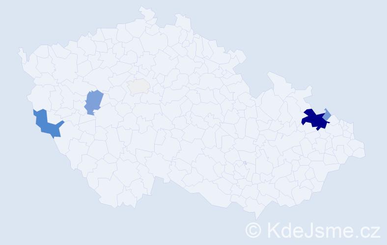 Příjmení: 'Godovská', počet výskytů 20 v celé ČR