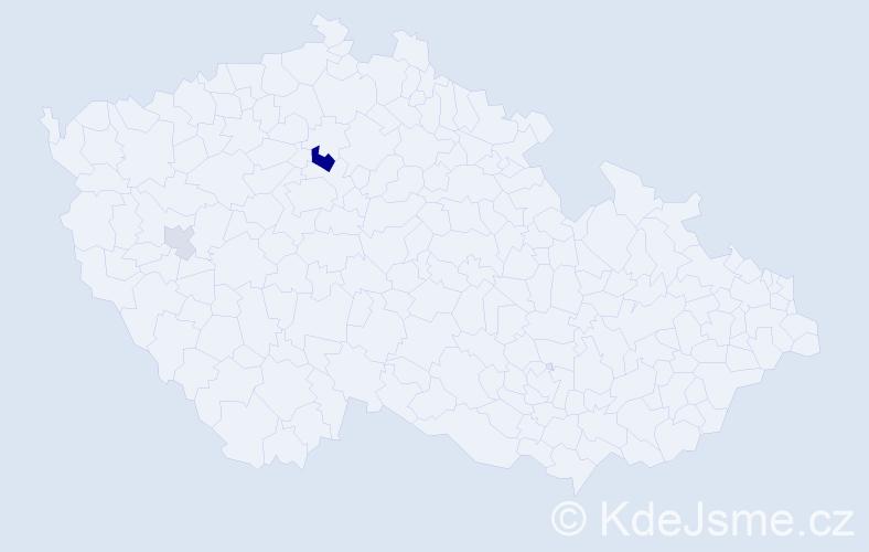 Příjmení: 'Gambiraža', počet výskytů 6 v celé ČR
