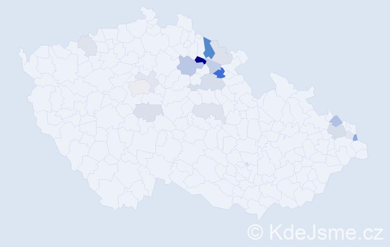 Příjmení: 'Langnerová', počet výskytů 36 v celé ČR