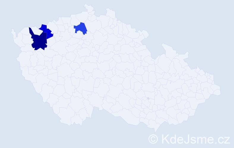 Příjmení: 'Esztergályosová', počet výskytů 4 v celé ČR