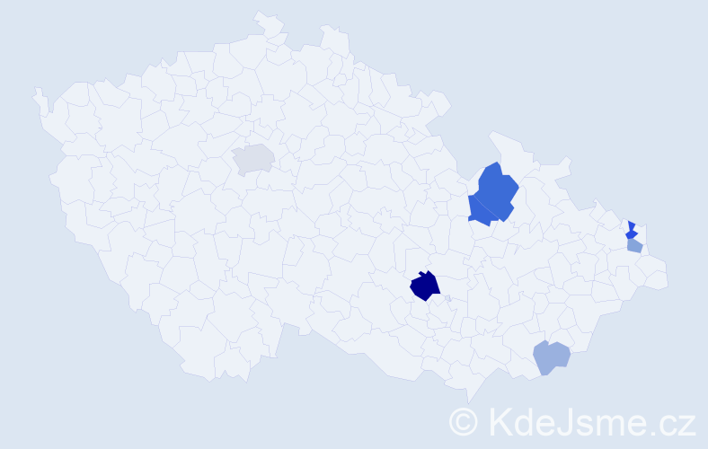 Příjmení: 'Dronski', počet výskytů 18 v celé ČR
