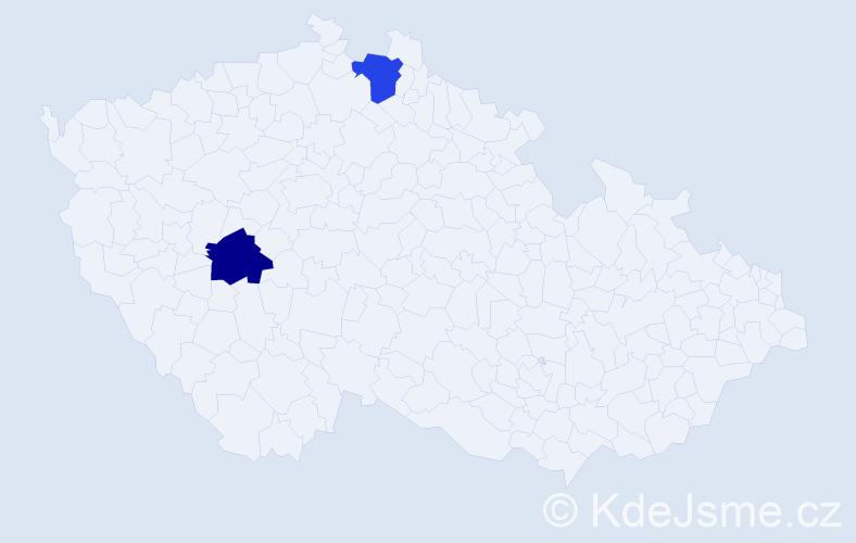 Příjmení: 'Aicher', počet výskytů 2 v celé ČR