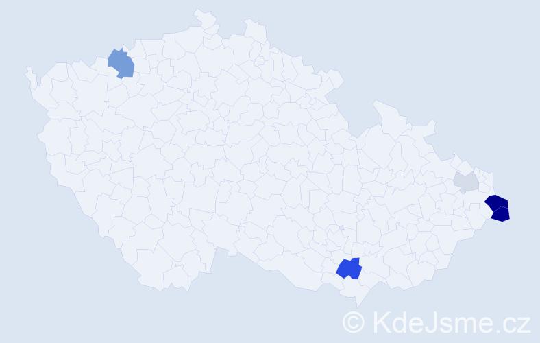 Příjmení: 'Gawel', počet výskytů 12 v celé ČR