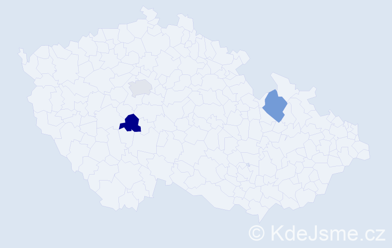 Příjmení: 'Barbeau', počet výskytů 3 v celé ČR