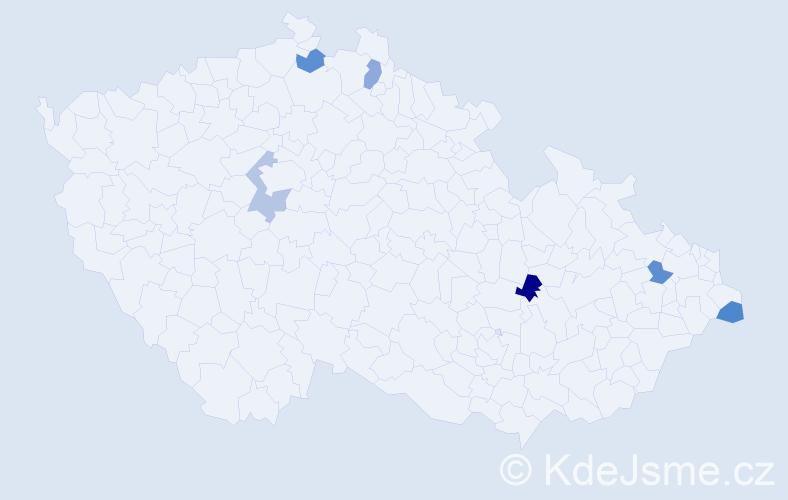 Příjmení: 'Carrara', počet výskytů 6 v celé ČR