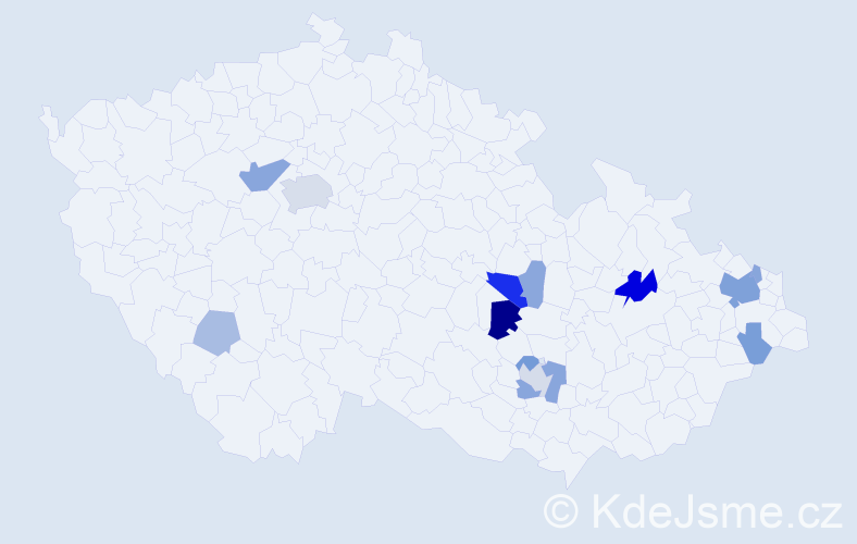 Příjmení: 'Bernovský', počet výskytů 33 v celé ČR