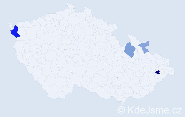 Příjmení: 'Hurtoš', počet výskytů 9 v celé ČR