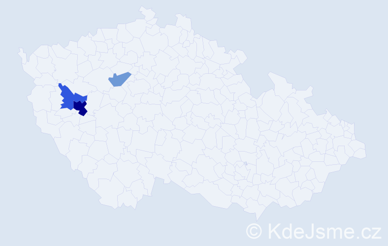 Příjmení: 'Gotschyová', počet výskytů 6 v celé ČR