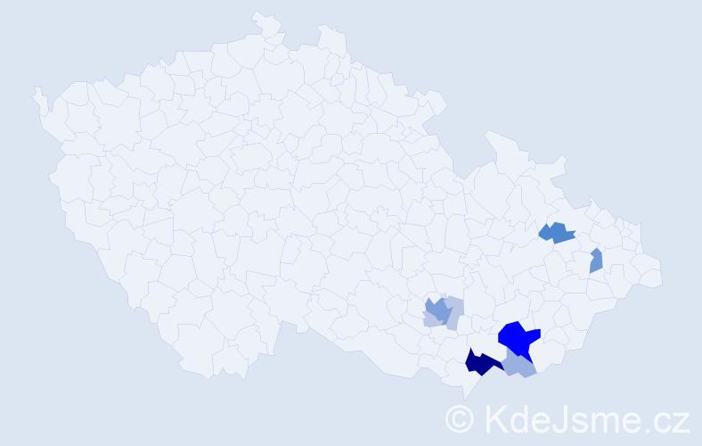 Příjmení: 'Herůdek', počet výskytů 32 v celé ČR