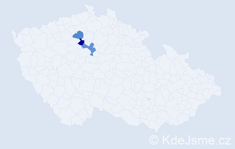 Příjmení: 'Bakyová', počet výskytů 5 v celé ČR