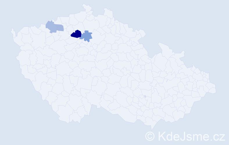 Příjmení: 'Čičmiš', počet výskytů 6 v celé ČR