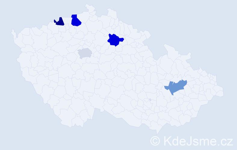 Příjmení: 'Dlugopolská', počet výskytů 6 v celé ČR