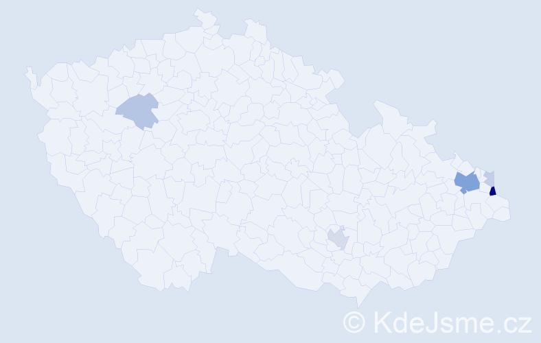 Příjmení: 'Bulat', počet výskytů 16 v celé ČR