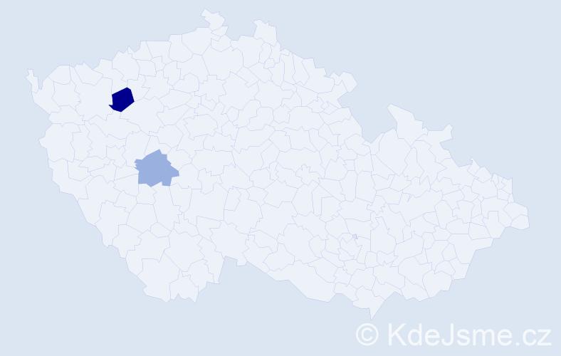 Příjmení: 'Gasch', počet výskytů 7 v celé ČR
