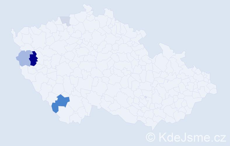 Příjmení: 'Žuravská', počet výskytů 8 v celé ČR