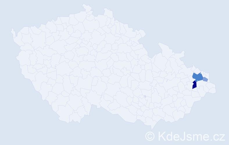 Příjmení: 'Kaczmarzová', počet výskytů 8 v celé ČR