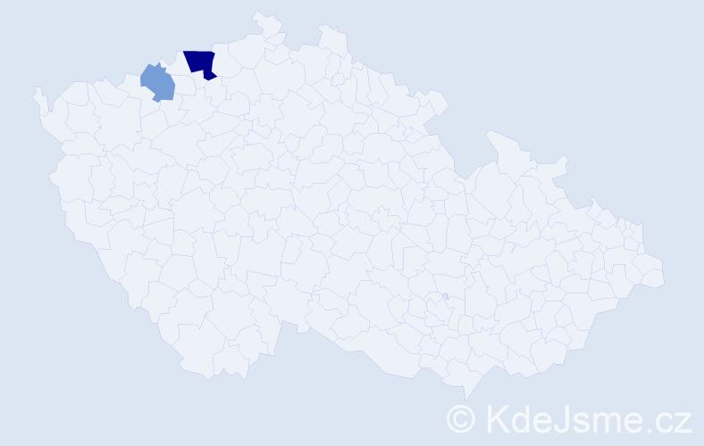 Příjmení: 'Majdčinský', počet výskytů 5 v celé ČR